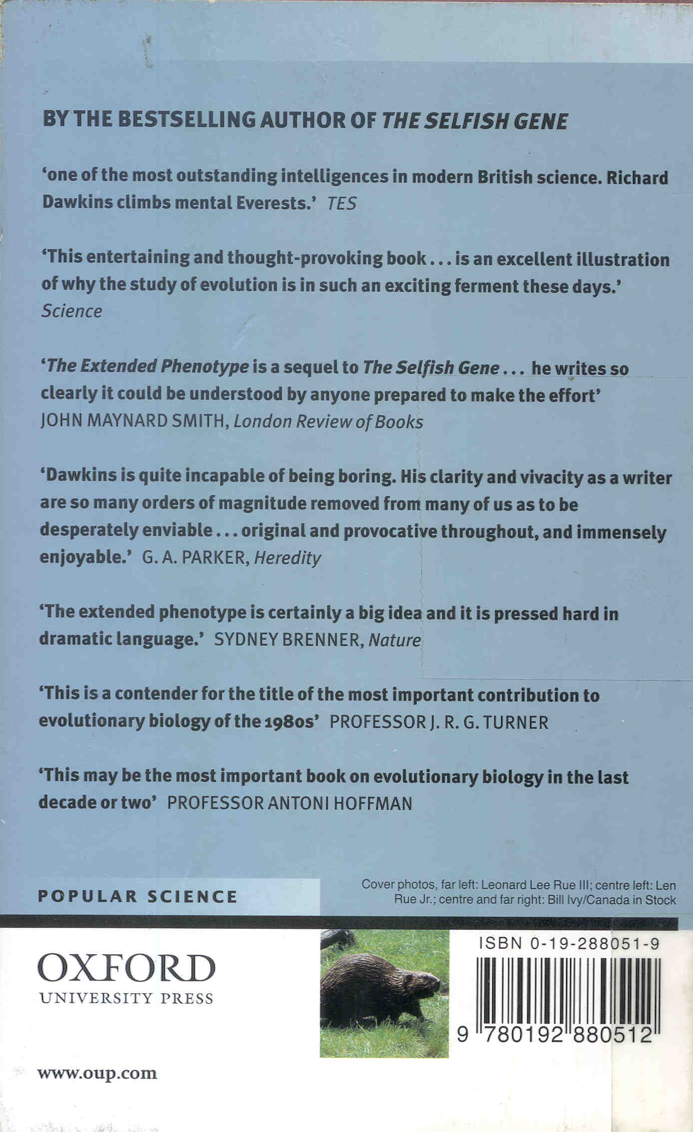 The Extended Phenotype. Richard Dawkins ...